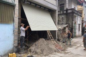 Lắp đặt cửa cuốn khe thoáng tại Hà Nội